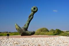 Anchor sculpture in Caesarea. Royalty Free Stock Image