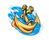 Anchor in sea Royalty Free Stock Photography