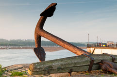 Anchor with a sea view Stock Photo