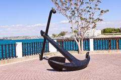 Anchor on a seafront Royalty Free Stock Images