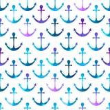 Anchor seamless background. Stock Photos