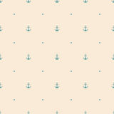 Anchor seamless pattern background Stock Photography
