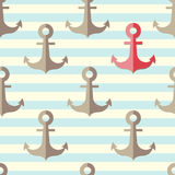 Anchor in a seamless pattern Stock Image