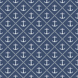 Anchor seamless pattern Stock Images