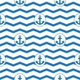 Anchor seamless pattern Royalty Free Stock Photos