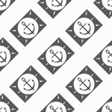 Anchor seamless vector pattern Royalty Free Stock Photography