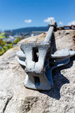 Anchor on seaside rock Royalty Free Stock Photo