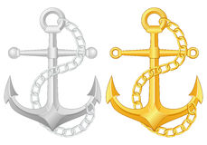 Anchor set Royalty Free Stock Photos