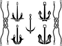 Anchor set Royalty Free Stock Image