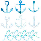 Anchor set Royalty Free Stock Photography