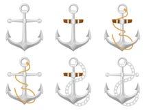 Anchor set Royalty Free Stock Photography