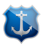 Anchor shield Royalty Free Stock Images