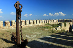 Anchor of ship in Tenedos Castle Royalty Free Stock Photography