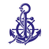 Anchor and ships wheel symbol vector illustration isolated on white background vector illustration