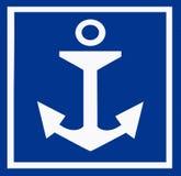 Anchor sign Stock Photo
