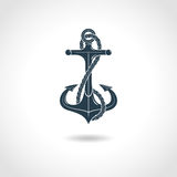 Anchor Silhouette Isolated Object Stock Photos
