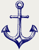 Anchor sketch Royalty Free Stock Image
