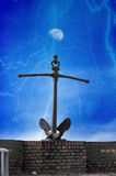 Anchor in the storm Stock Images