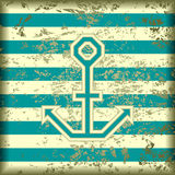 Anchor on a striped background Stock Images