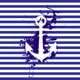 Anchor on striped background Stock Images