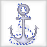 Anchor. Stylized anchor with rope. Illustration vector illustration