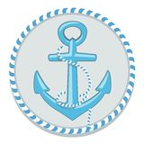Anchor symbol - vector illustration Royalty Free Stock Photography