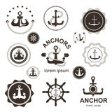 Anchor symbols  set. Stock Photography