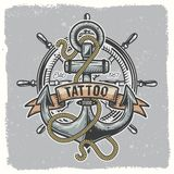 Anchor_tatoo_01 vector illustration