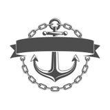 Anchor vector emblem. stock illustration