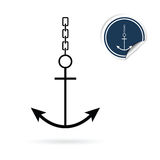 Anchor vector icon on white Royalty Free Stock Photo