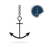 Anchor vector icon on white Royalty Free Stock Photo