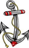 Anchor Vector. An Illustration of a ship Anchor in Vector Format Stock Image
