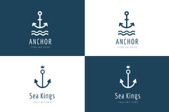 Anchor vector logo icon set. Sea, vintage or Stock Photography
