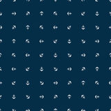 Anchor vector seamless pattern. Ocean navy blue print texture with anchors Royalty Free Stock Photo