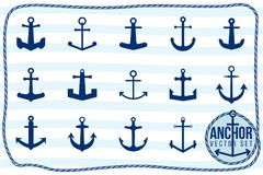 Anchor vector set Stock Images