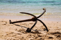 043  anchor is a veteran of the sea Royalty Free Stock Image