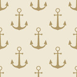 Anchor vintage pattern sea naval background symbol emblem label collection Stock Image