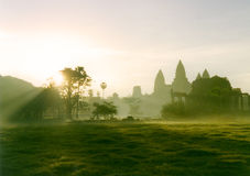 Anchor Wat sunrise. A beautiful sunrise of the ruins of Anchor Wat Royalty Free Stock Image