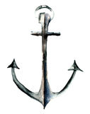 Anchor, watercolor illustration Royalty Free Stock Photography