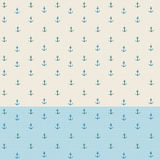 Anchor watercolor seamless pattern Royalty Free Stock Photography