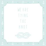 Anchor wedding invitation template. Vector EPS 10 hand drrawn illustration stock illustration