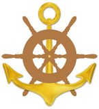 Anchor and Wheel Royalty Free Stock Image