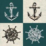 Anchor wheel illustration vector art Royalty Free Stock Photography