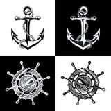 Anchor wheel illustration vector art Royalty Free Stock Image