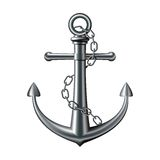 Anchor on white background Royalty Free Stock Photos