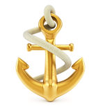 Anchor. On white background. 3d rendering image Royalty Free Stock Photos