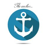 The anchor on the white background. vector. EPS Vector Illustration