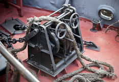 Anchor winch Royalty Free Stock Photo