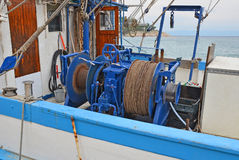 Anchor winch with chain Royalty Free Stock Photos