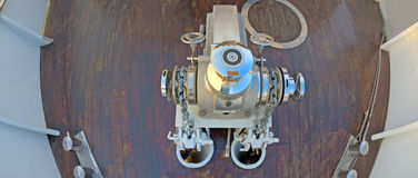 Anchor winch mechanism Royalty Free Stock Photo